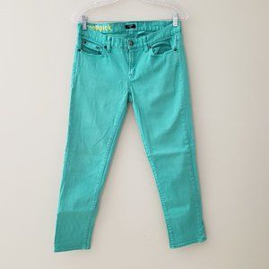 J. Crew Toothpick Skinny Crop Jeans in Turquoise